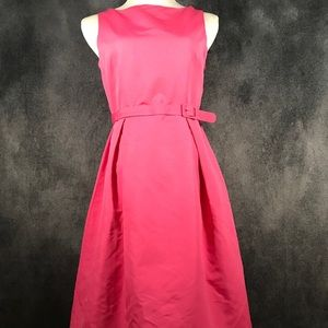 NWT! Belted A-line dress in Bubble-gum pink